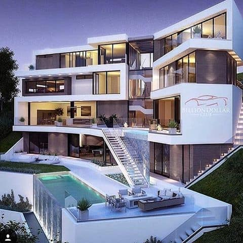 Stunning modern mansions modern home for Amazing modern houses inside