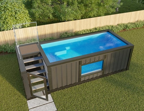how to build a shipping container swimming pool modern home. Black Bedroom Furniture Sets. Home Design Ideas