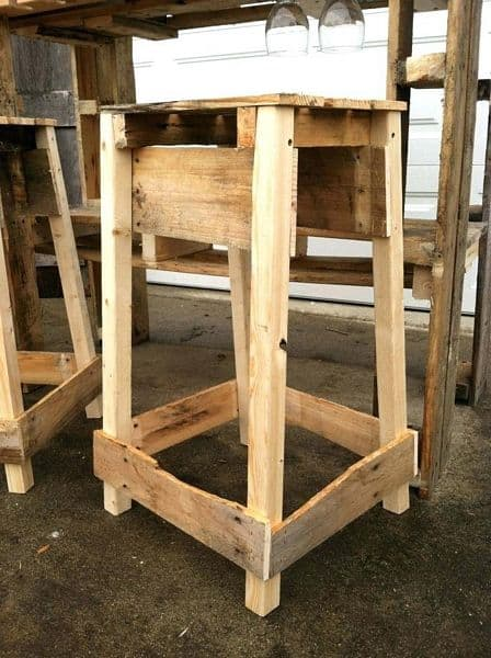 20 Pallet Bar Stool Images That Will Make You Run To Grab