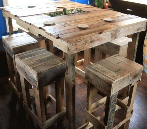 The Pallet Building Is Simple You Can Use Various Types Of Wood Pallets And Build Your Perfectly Stiff Stool There Are By Way Tons Ideas How