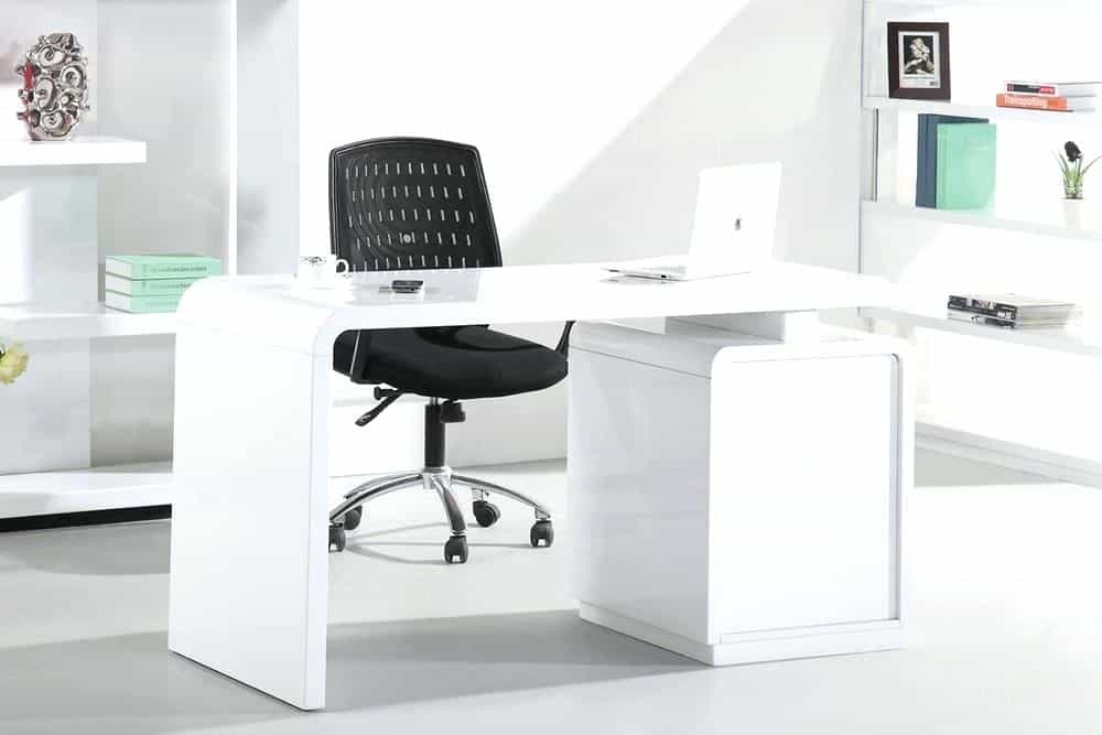 Merveilleux The White Home Office Desk Needs To Be A Location Thatu0027s Developed For  Working And Also Amusing Customers In Addition To A Representation Of Your  Layout ...