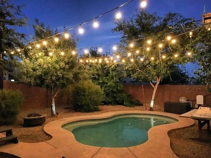 Discover These Awesome Deck String Lighting Ideas - Modern ... on String Light Ideas Backyard id=47299